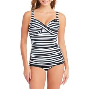 Simply Slim x Catalina striped retro swim suit